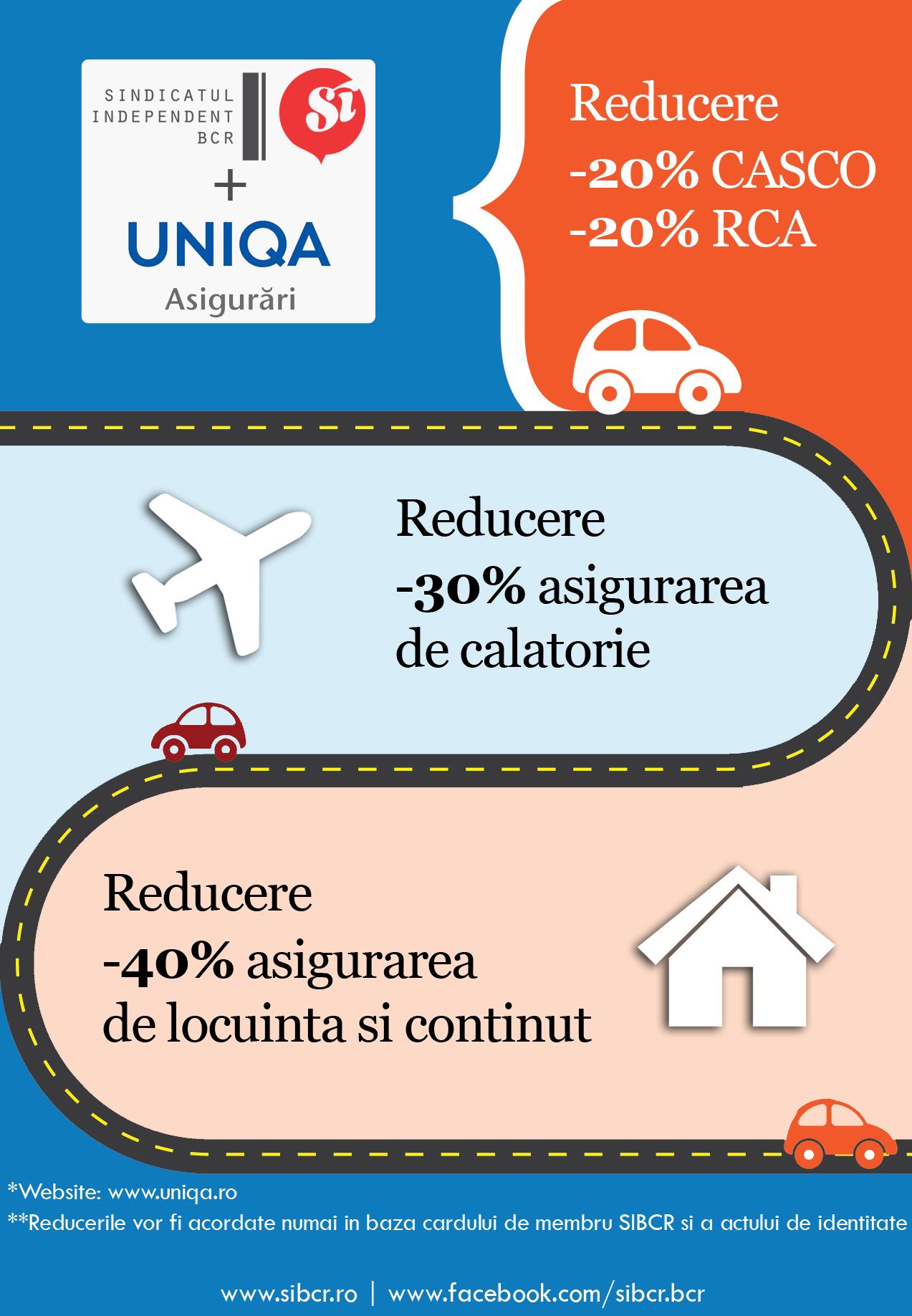 Reduceri asigurari Uniqa